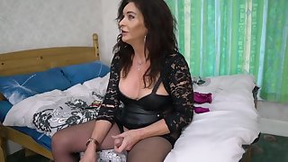 Mature Ts Celine In Old Trans . Gently Dominates Horny Younger Transexual Piece of baggage