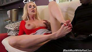 MILF blonde in high heels Brandi Love rides a big black dick hardcore