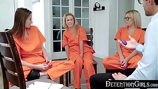 DetentionGirls - Foot-soldier Her Vibrator Into Group Smoke S1:E8