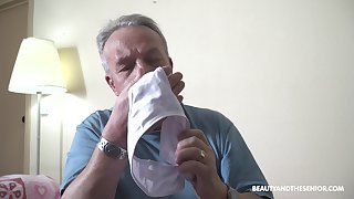 That pa is a panty sniffer with the addition of today he finally fucks his stepdaughter